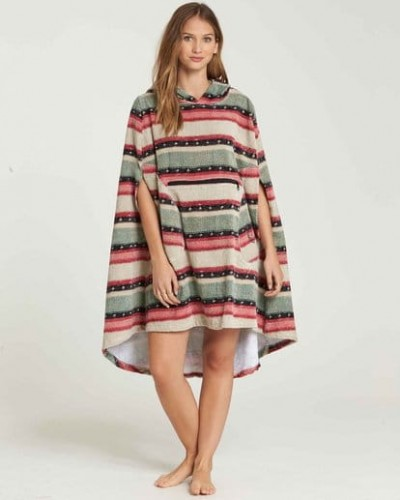 PONCHO 2019 BILLABONG SUGAR PINE HOODED PONCHO L4BR10