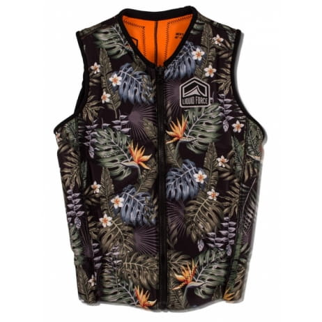 KAMIZELKA WAKEBOARD LIQUID FORCE 2019 Z-CARDIGAN tropical